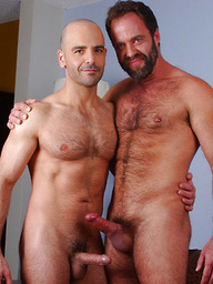 Mature muscle guys Adam Russo and Dodger Wolf fucking