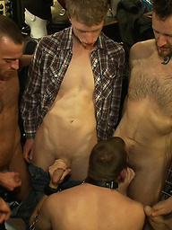 19 year old stud with a giant cock gets used and humiliated in public.