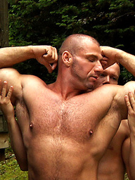 Horny muscle hunk Ethan Hudson and Marc Vallint fuck