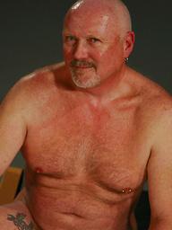 Fat & old gay Stewart Scot posing