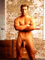Young sexy jock Mike James poses