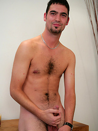 Hairy str8 lad Jono - A grower and thick one!