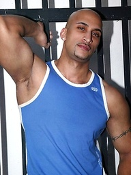Bald latin muscle man Rico