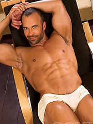 Nate Karlton posing naked