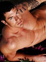 Hot brunett hunk JR posing