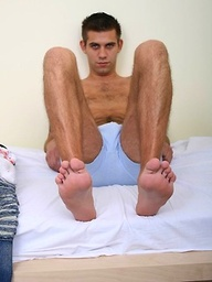 Hairy czech stud jerking off